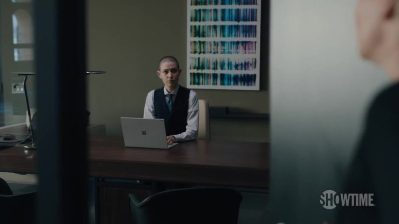 Surface Laptop by Microsoft Used by Asia Kate Dillon (Taylor Mason) in Billions (Season 4, Showtime, 2019) TV Show Product Placement