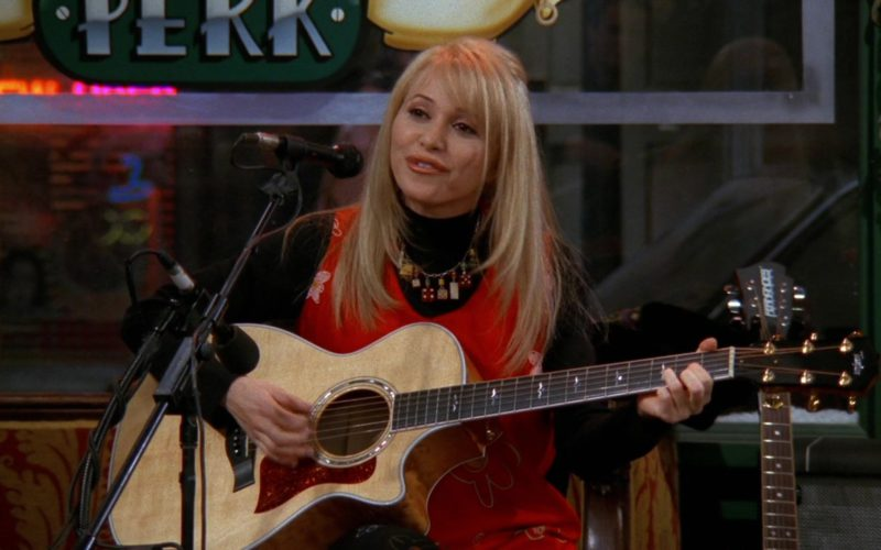 Taylor Guitar Used by Elizabeth Daily in Friends Season 3 Episode 14 (1)