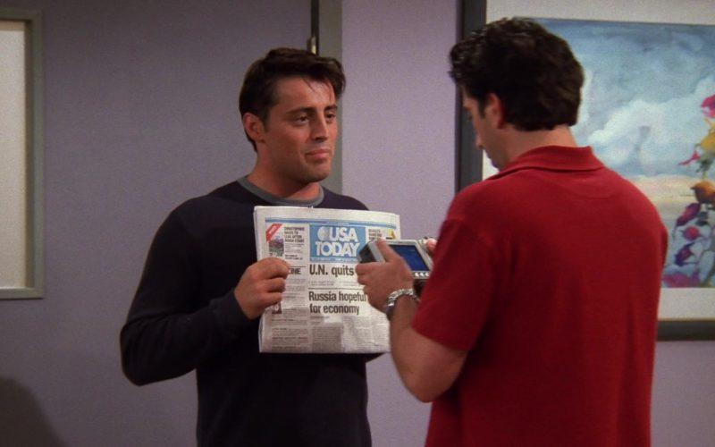 USA Today Newspaper Held by Matt LeBlanc (Joey Tribbiani) in Friends Season 5 Episode 3 (1)