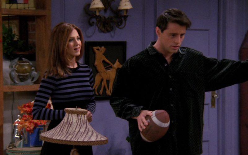 Wilson Football Held by Matt LeBlanc (Joey Tribbiani) in Friends Season 3 Episode 9 (1)