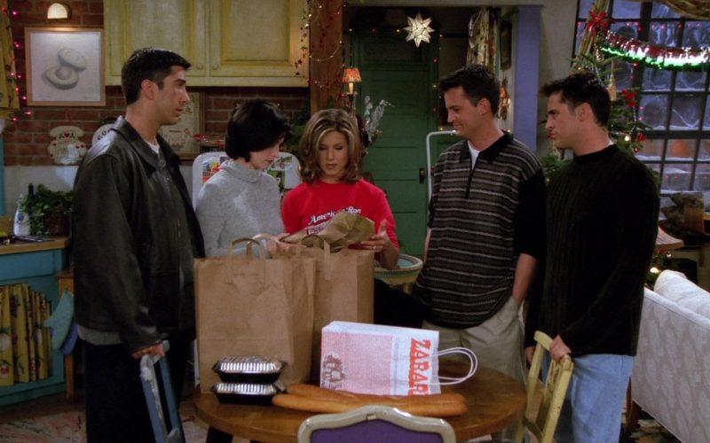 Zabar's Grocery Store Paper Bag in Friends Season 2 Episode 9 (3)
