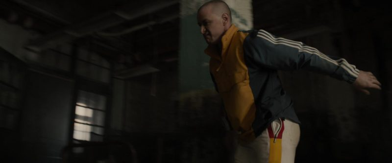 Adidas Originals Men's Yellow and Blue Blocked Anorak Warm Up or Track Jacket Worn by James McAvoy in Glass (2019) - Movie Product Placement