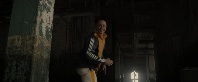 Adidas Originals Men's Yellow and Blue Blocked Anorak Warm Up or Track Jacket Worn by James McAvoy in Glass (2019) Movie Product Placement