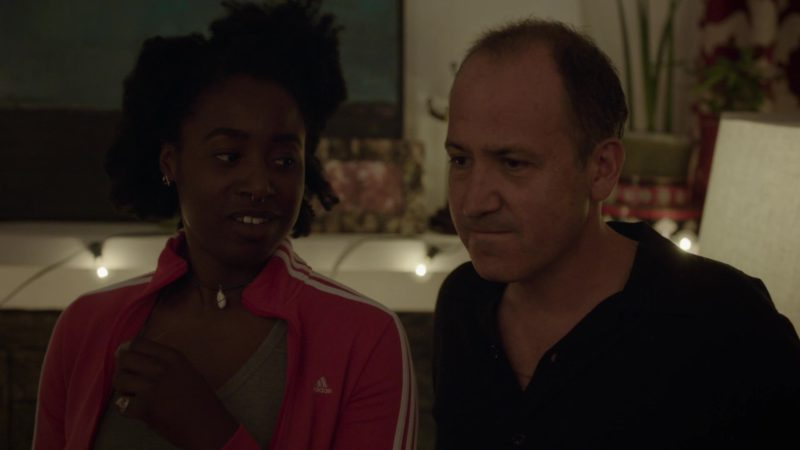 Adidas Pink Jacket Worn by Kirby Howell-Baptiste in Barry - Season 1, Episode 4, Chapter Four: Commit ... to YOU (2018) - TV Show Product Placement