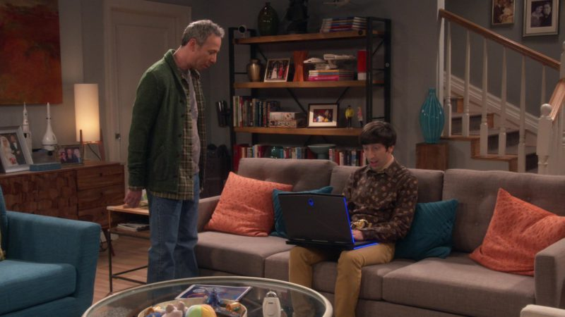 Alienware Laptop Used by Simon Helberg (Howard Wolowitz) in The Big Bang Theory - Season 12, Episode 18, The Laureate Accumulation (2019) - TV Show Product Placement