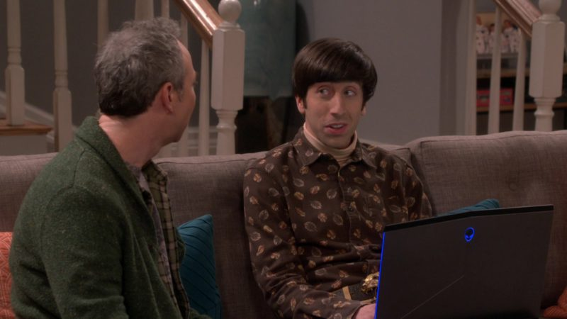 Alienware Laptop Used by Simon Helberg (Howard Wolowitz) in The Big Bang Theory - Season 12, Episode 18, The Laureate Accumulation (2019) TV Show Product Placement
