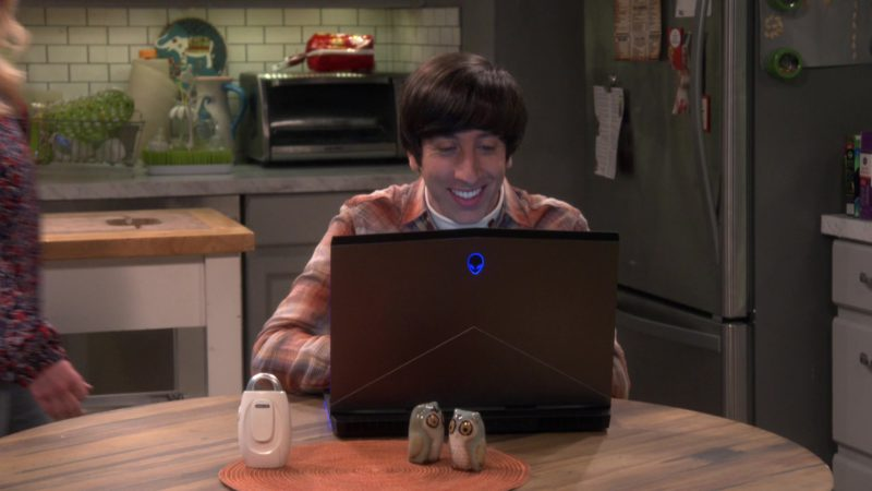 "Alienware Notebook Used by Simon Helberg (Howard Wolowitz) in The Big Bang Theory - Season 12, Episode 20, ""The Decision Reverberation"" (2019) - TV Show Product Placement"