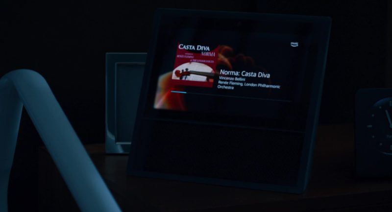 Amazon Echo Show Smart Speaker and HD Display, Alexa Virtual Assistant and Amazon Music Application Used by Bryan Cranston in The Upside (2017) - Movie Product Placement