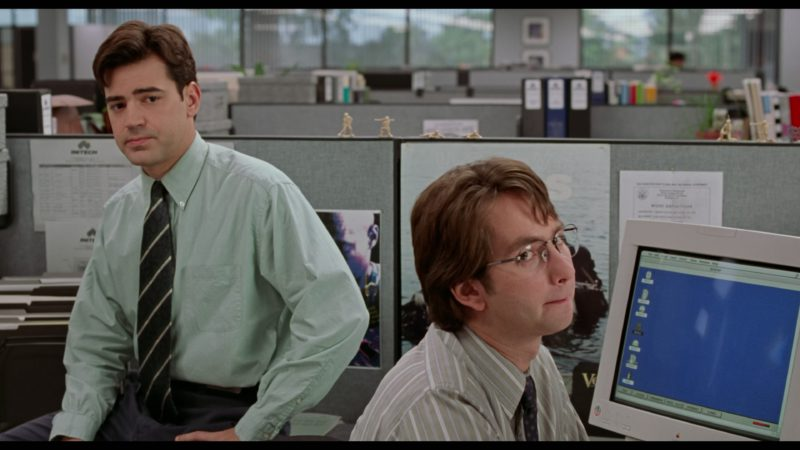 Apple Computer Monitor Used by David Herman in Office Space (1999) Movie Product Placement