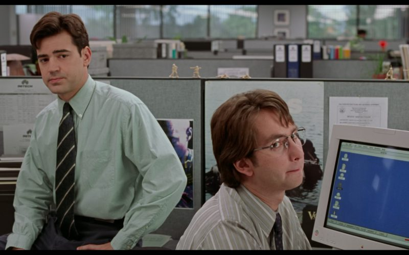 Apple Computer Monitor Used by David Herman in Office Space
