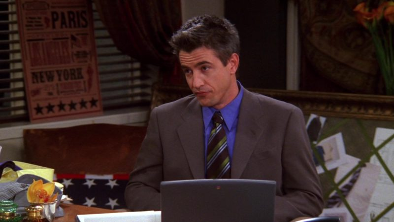 "Apple Laptop Used by Dermot Mulroney (Gavin Mitchell) in Friends Season 9 Episode 12 ""The One With Phoebe's Rats"" (2003) TV Show Product Placement"