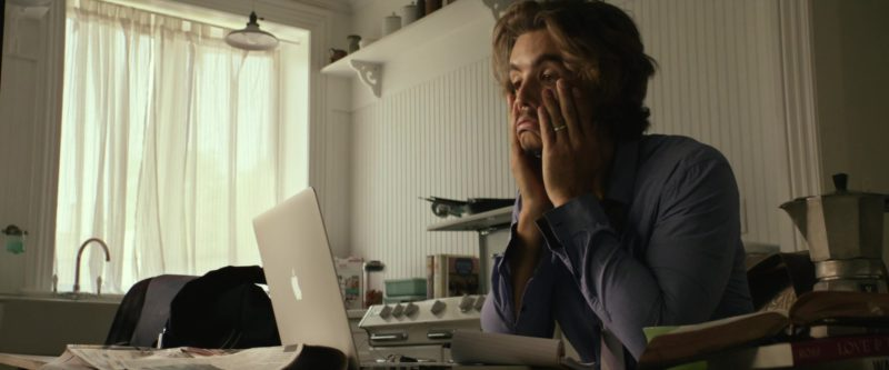 Apple MacBook Laptop Used by Brenton Thwaites in An Interview with God (2018) - Movie Product Placement