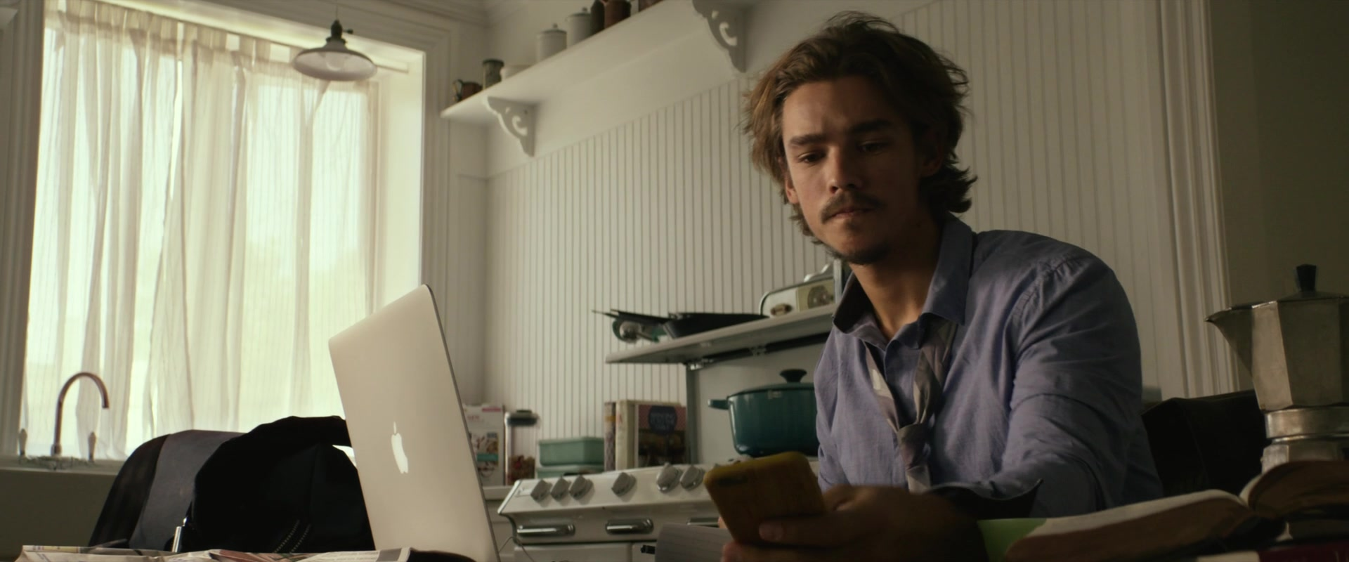 Apple Macbook Laptop Used By Brenton Thwaites In An
