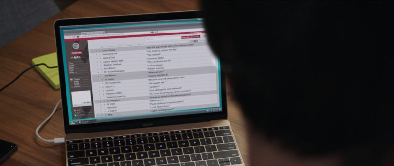 Apple MacBook Laptop Used by Keanu Reeves in Replicas (2018) Movie Product Placement