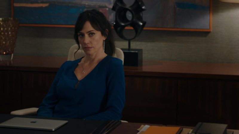 Apple MacBook Pro Laptop Used by Maggie Siff (Wendy Rhoades) in Billions – Season 4 Episode 5, A Proper Sendoff (2019) - TV Show Product Placement
