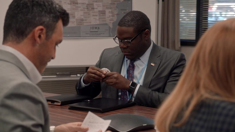Apple Watch Worn by Sam Richardson in Veep – Season 7 Episode 3, Pledge (2019) - TV Show Product Placement