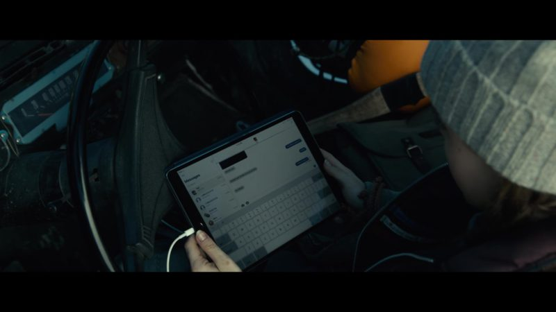 Apple iPad Tablet Used by Kiernan Shipka in The Silence (2019) - Movie Product Placement