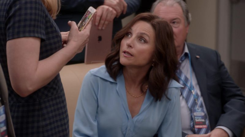 Apple iPad Tablet in Veep - Season 7 Episode 3, Pledge (2019) - TV Show Product Placement