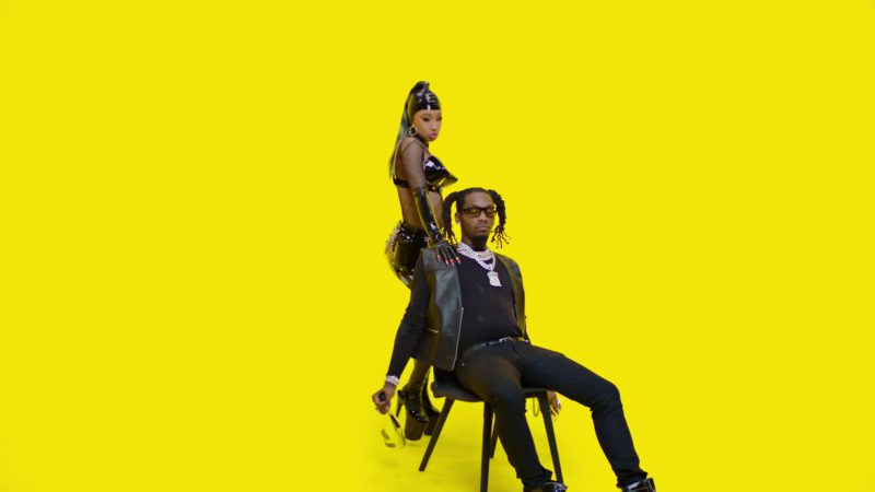 Armand De Brignac Brut Gold Sparkling Wine Held by Offset in Clout feat. Cardi B (2019) - Official Music Video Product Placement