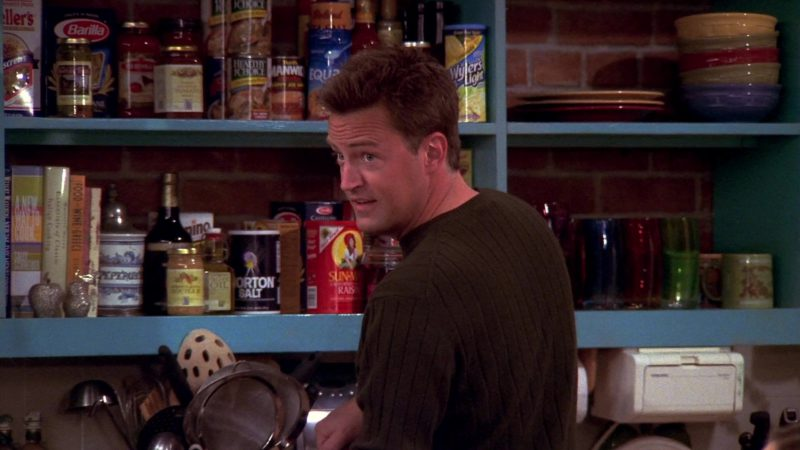 "Barilla Pasta, Healthy Choice, Wyler's Light, Morton Salt, Sun Maid Raisins, Equal Sweetener in Friends Season 10 Episode 5 ""The One Where Rachel's Sister Baby-Sits"" (2003) - TV Show Product Placement"