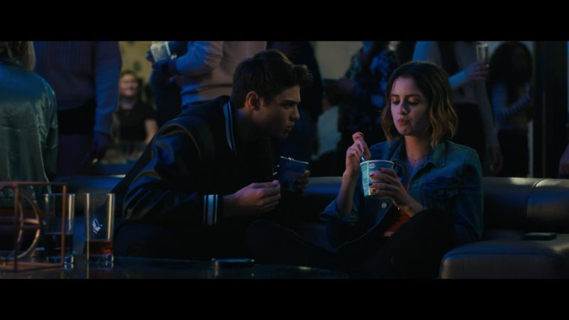 Ben&Jerry's Vanilla Ice Cream Held by Laura Marano in The Perfect Date (2019) Movie Product Placement