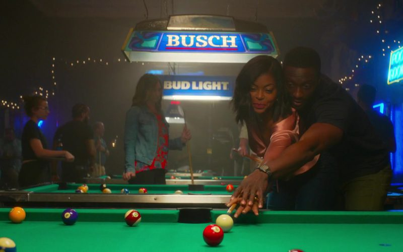 Busch Beer and Bud Light Pool Table Lights in What Men Wan