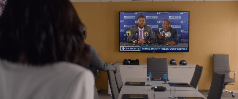 CBS Sports TV Channel and Fiji Water Bottles in What Men Want (2019) Movie Product Placement