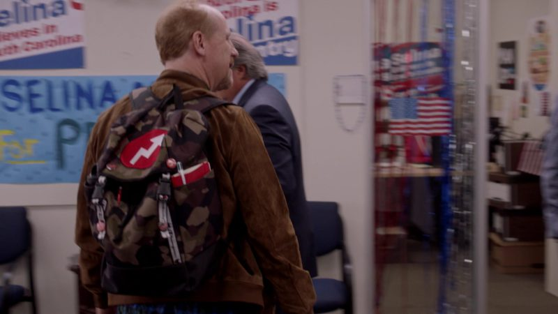"Champion Backpack Used by Matt Walsh in Veep - Season 7, Episode 4, ""South Carolina"" (2019) - TV Show Product Placement"