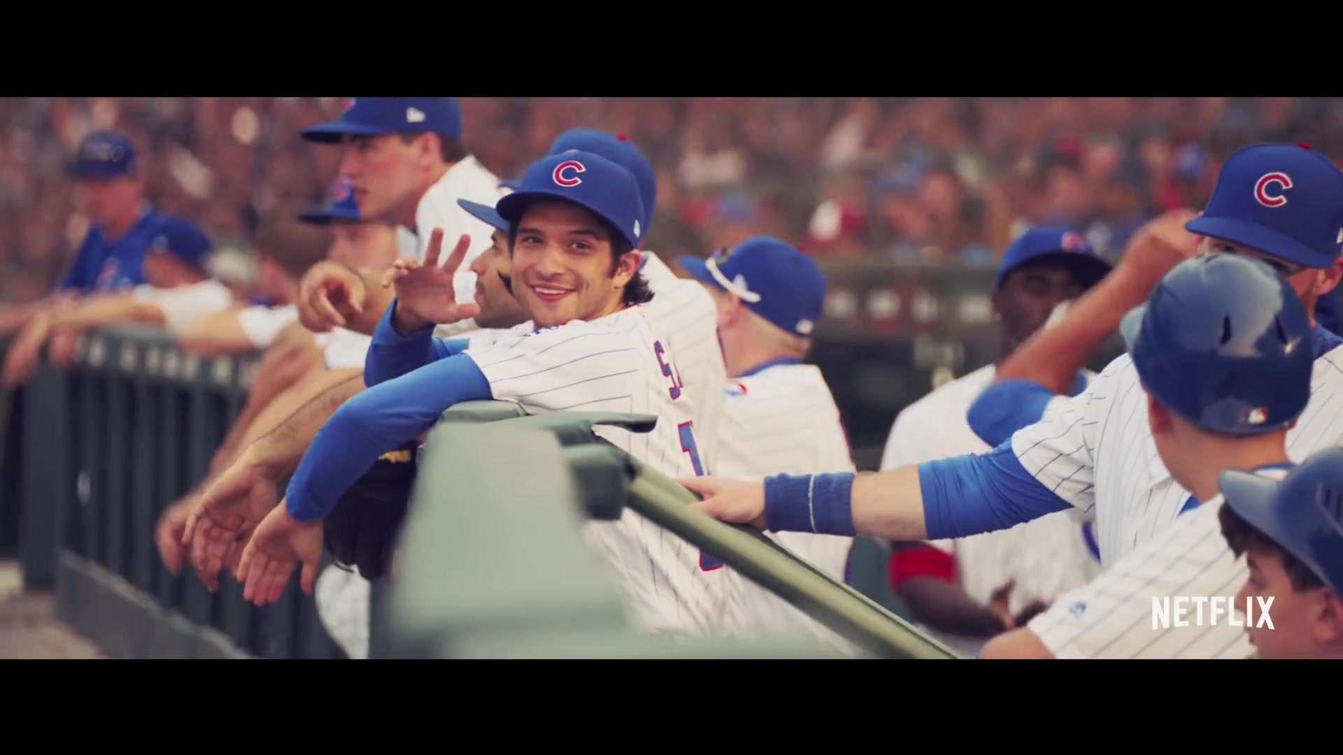 chicago cubs baseball uniform and cap worn by tyler posey
