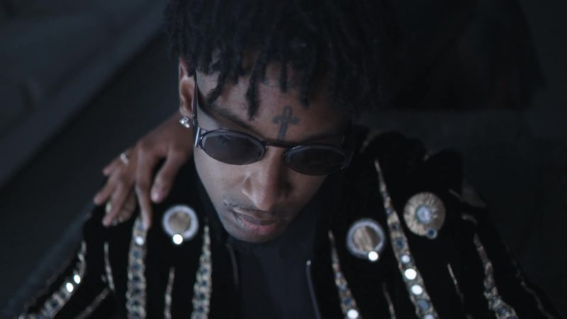 Christian Dior Sunglasses worn by 21 Savage in Ball W/O You (2019) - Official Music Video Product Placement