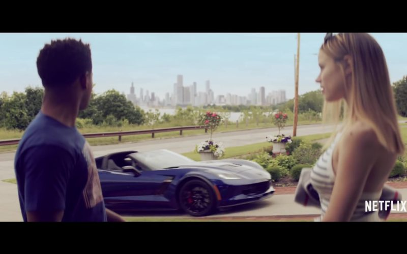 Corvette Stingray Blue Convertible Car (1)