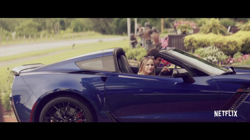 Corvette Stingray Blue Convertible Car in The Last Summer (2019) - Movie Product Placement