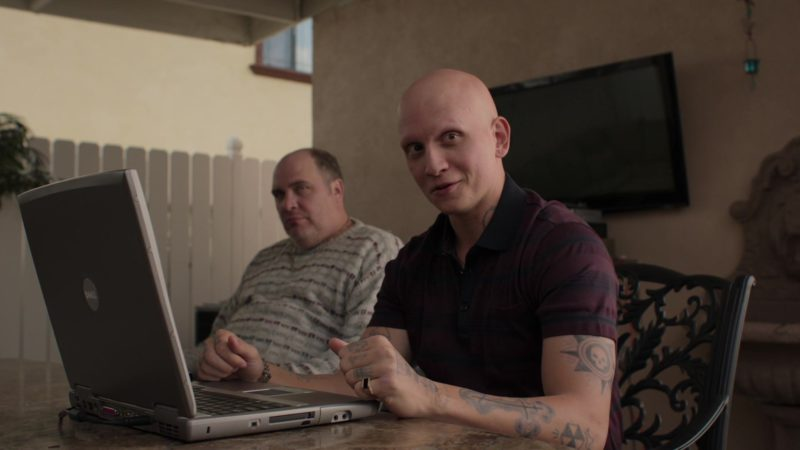 Dell Notebook Used by Anthony Carrigan (NoHo Hank) in Barry - Season 1, Episode 1, Chapter One: Make Your Mark (2018) - TV Show Product Placement
