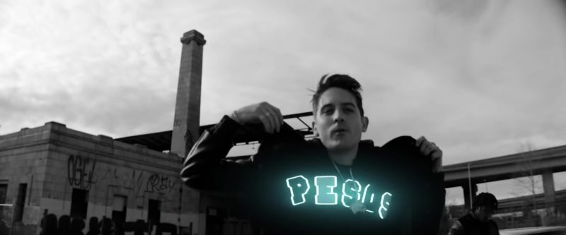 Dirty Pesos Worldwide Hoodie Worn by G-Eazy in West Coast (2019) Official Music Video
