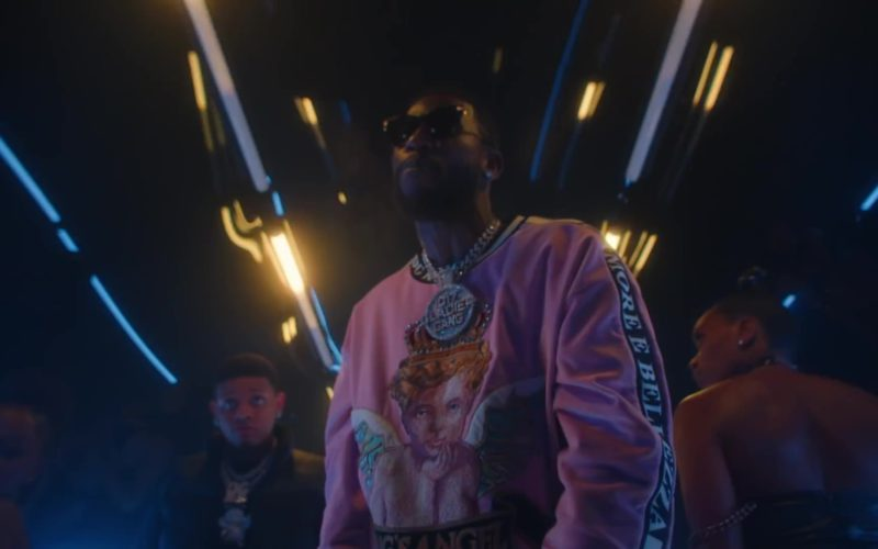 Dolce & Gabbana Men's Pink King's Angel Sweatshirt Worn by Gucci Mane (10)
