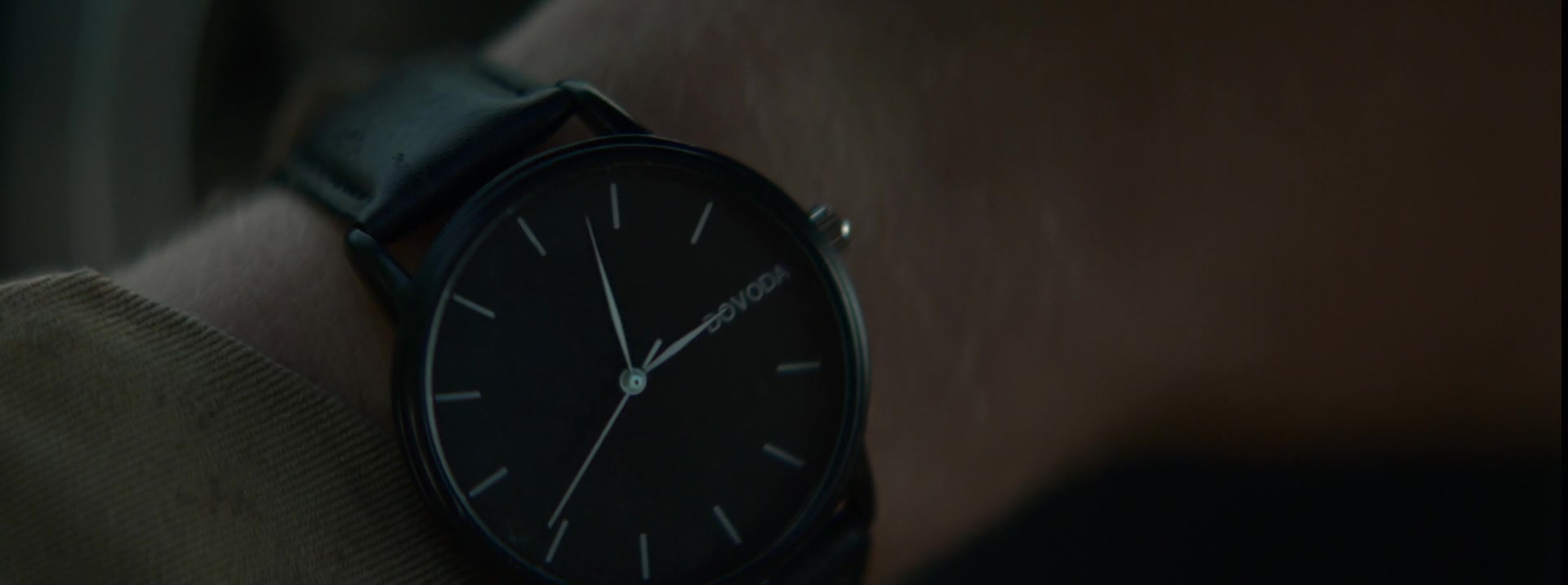 Dovoda men 39 s black wrist watch worn by beau knapp in crypto 2019 movie for Dovoda watches