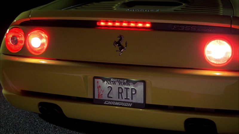 Ferrari F355 Spider Yellow Convertible Sports Car Driven by Nicky Katt in Boiler Room (2000) - Movie Product Placement