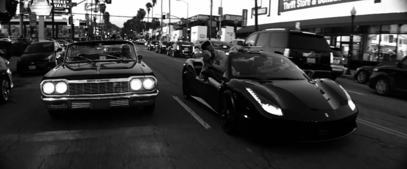 Ferrari Convertible Sports Car Driven by G-Eazy in West Coast (2019) Official Music Video Product Placement