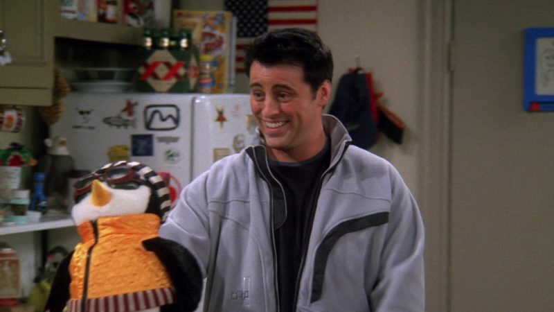 """Foursquare Jacket Worn by Matt LeBlanc (Joey Tribbiani) in Friends Season 9 Episode 17 """"The One With the Memorial Service"""" (2003) TV Show"""