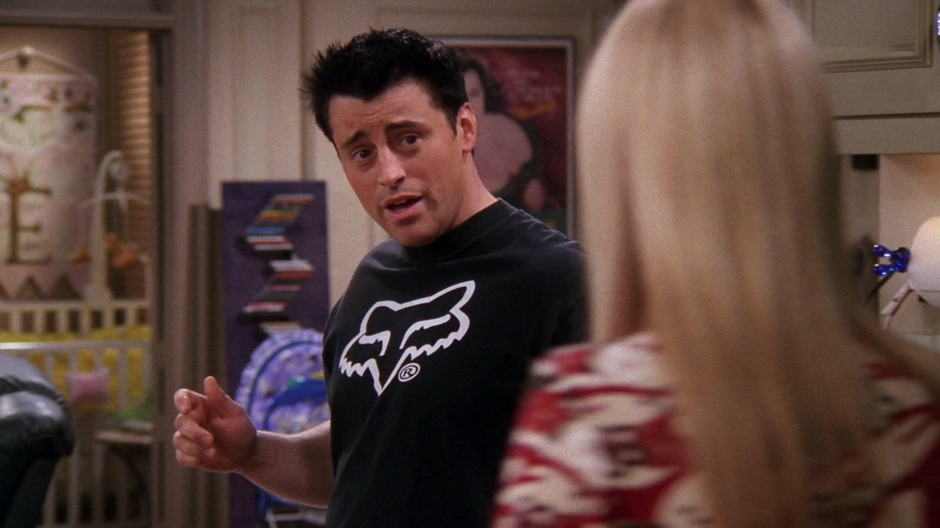 Fox Racing Black T-Shirt Worn by Matt LeBlanc (Joey Tribbiani) in