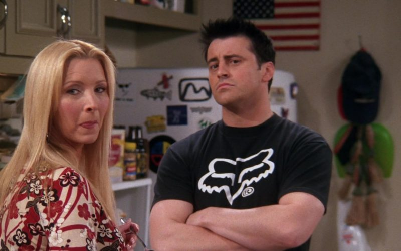 Fox Racing Black T-Shirt Worn by Matt LeBlanc (Joey Tribbiani) in Friends Season 9 Episode 14 (14)