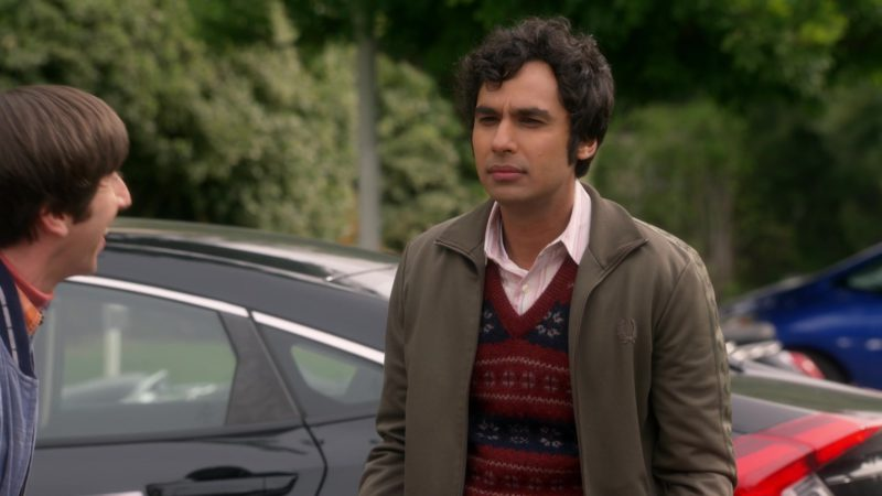 Fred Perry Green Jacket Worn by Kunal Nayyar (Rajesh Ramayan Koothrappali) in The Big Bang Theory - Season 12, Episode 19, The Inspiration Deprivation (2019) TV Show Product Placement