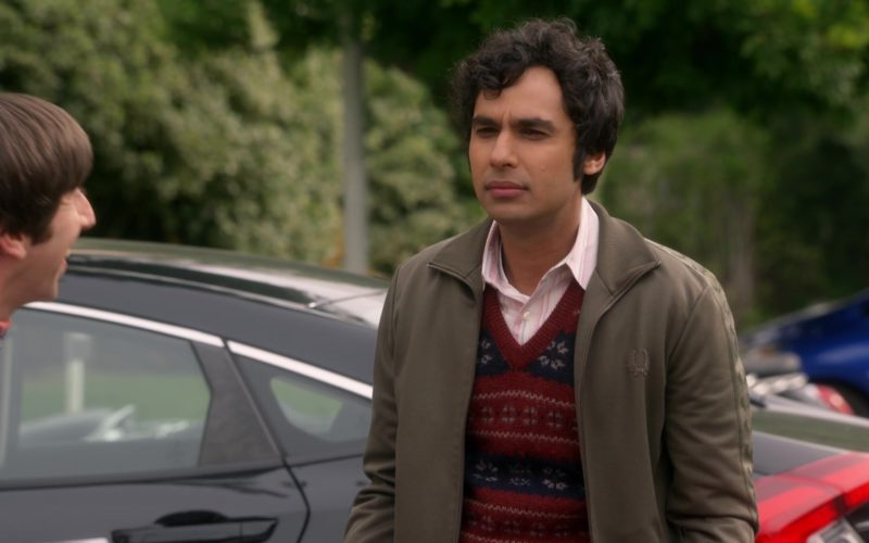 Fred Perry Green Jacket Worn by Kunal Nayyar (Rajesh Ramayan Koothrappali) in The Big Bang Theory (4)
