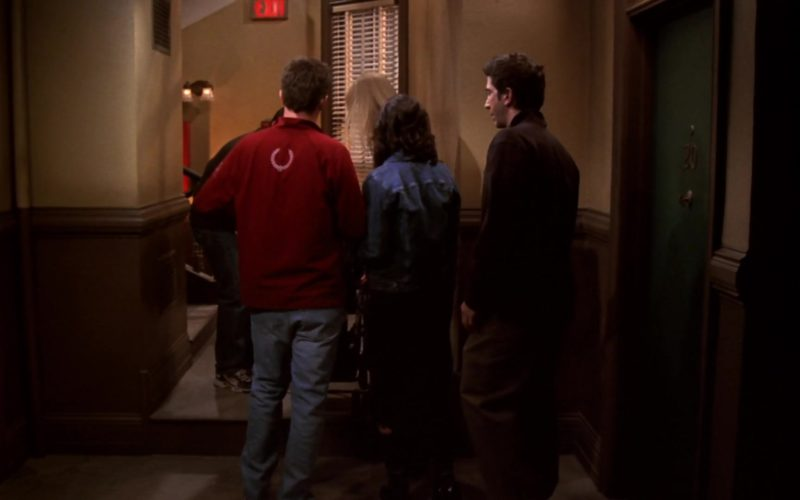 Fred Perry Red Jacket Worn by Matthew Perry (Chandler Bing) in Friends (12)