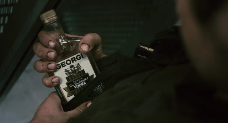 Georgi Vodka Held by Gerard Butler in Gamer (2009) - Movie Product Placement