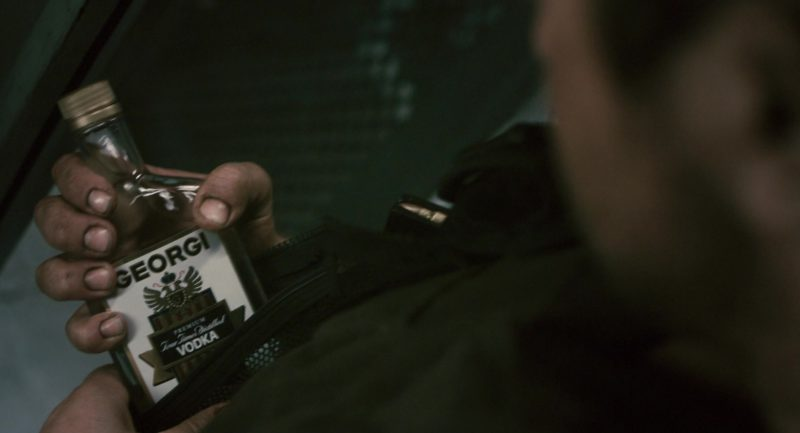 Georgi Vodka Held by Gerard Butler in Gamer (2009) Movie Product Placement