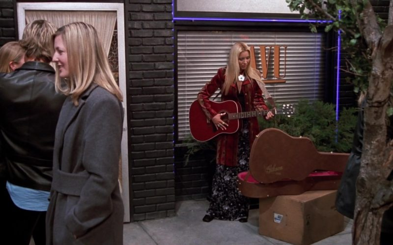 Gibson Acoustic Guitar and Brown Case Used by Lisa Kudrow (Phoebe Buffay) in Friends Season 9 Episode 19