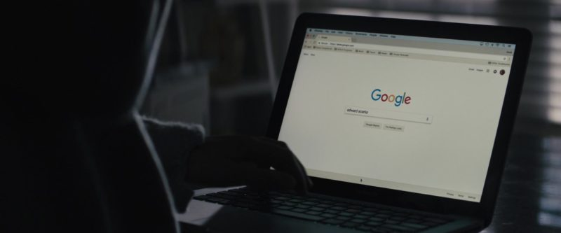 Google Website in The Prodigy (2019) - Movie Product Placement