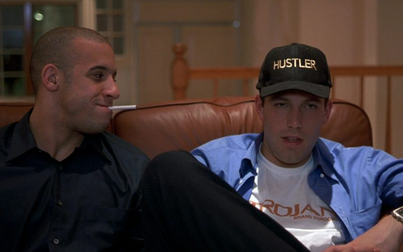 Hustler Cap and Trojan T-Shirt Worn by Ben Affleck in Boiler Room (1)