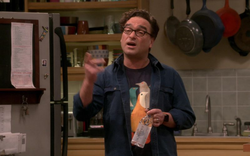 Icelandic Glacial Water Bottle Held by Johnny Galecki (Leonard Hofstadter) in The Big Bang Theory